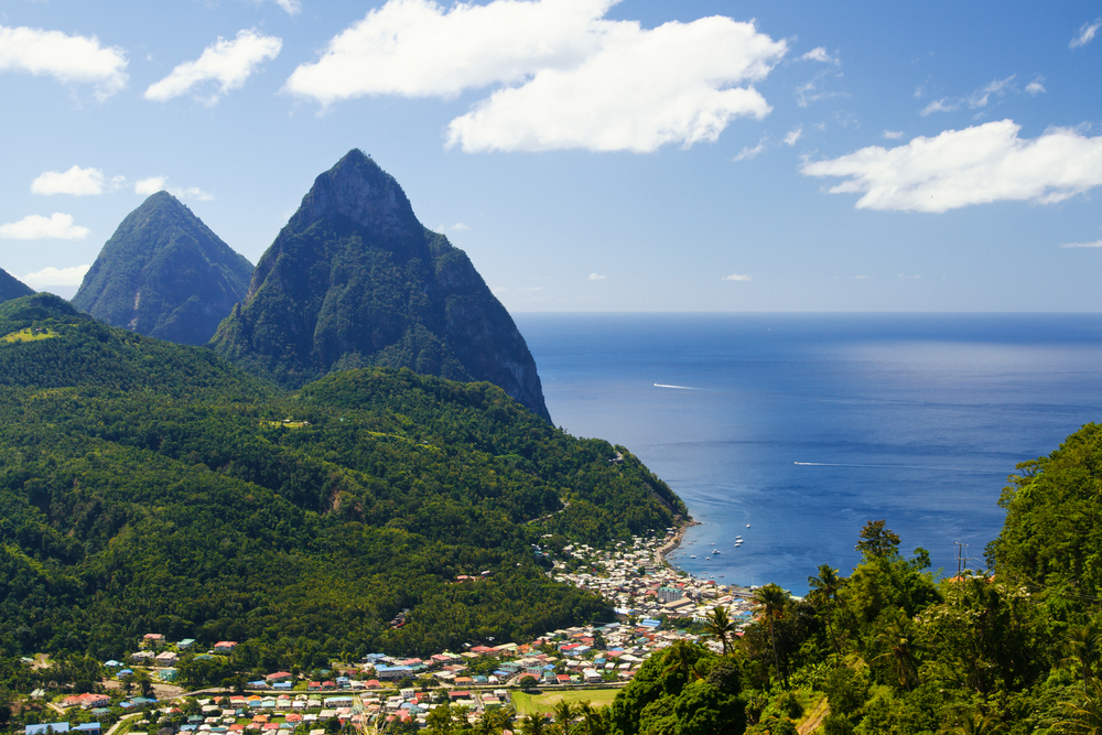 Piton Mountains Cruise Excursion in St. Lucia, Caribbean Island