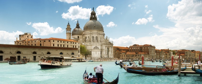 gondola rides in venice photo