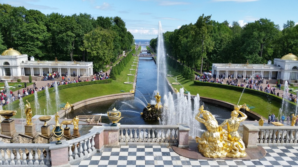 Peterhof Palace Grand Cascade Cruise Tour in St. Petersburg, Russia