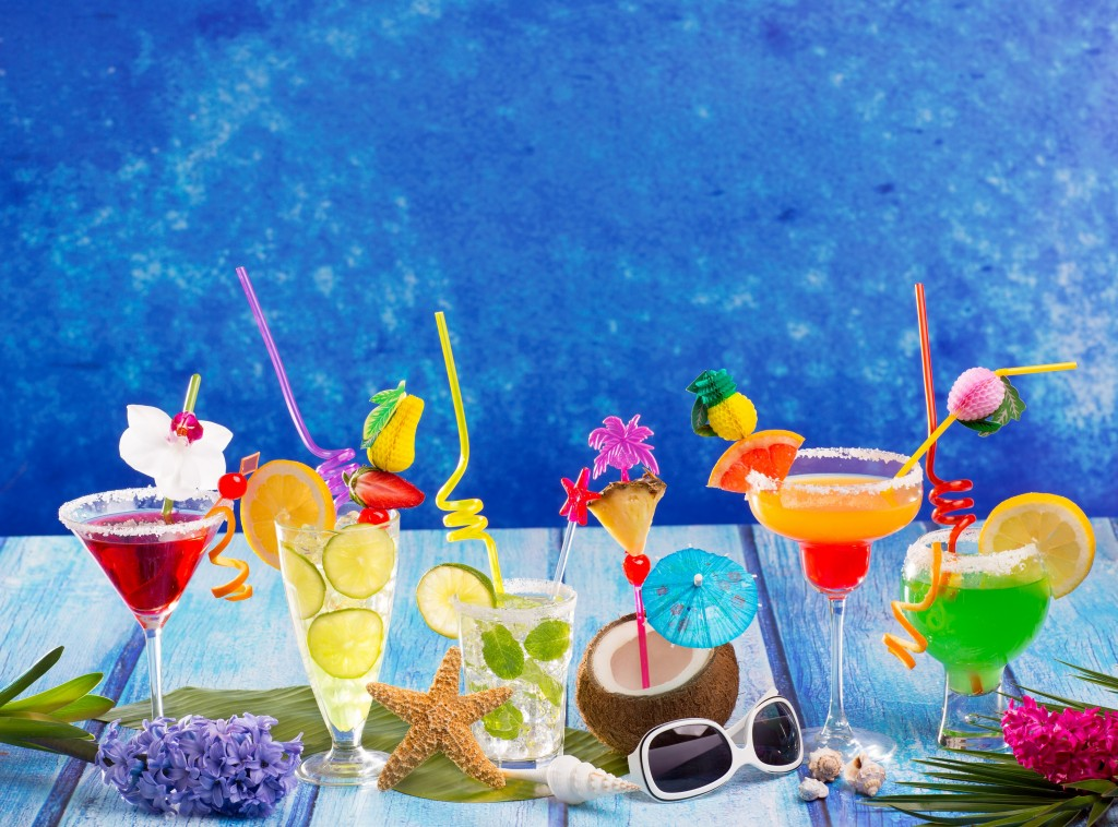 Various Caribbean Cocktails on a Cruise Excursion