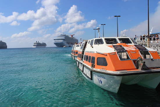 Tendering in Grand Cayman - Shore Excursions Group