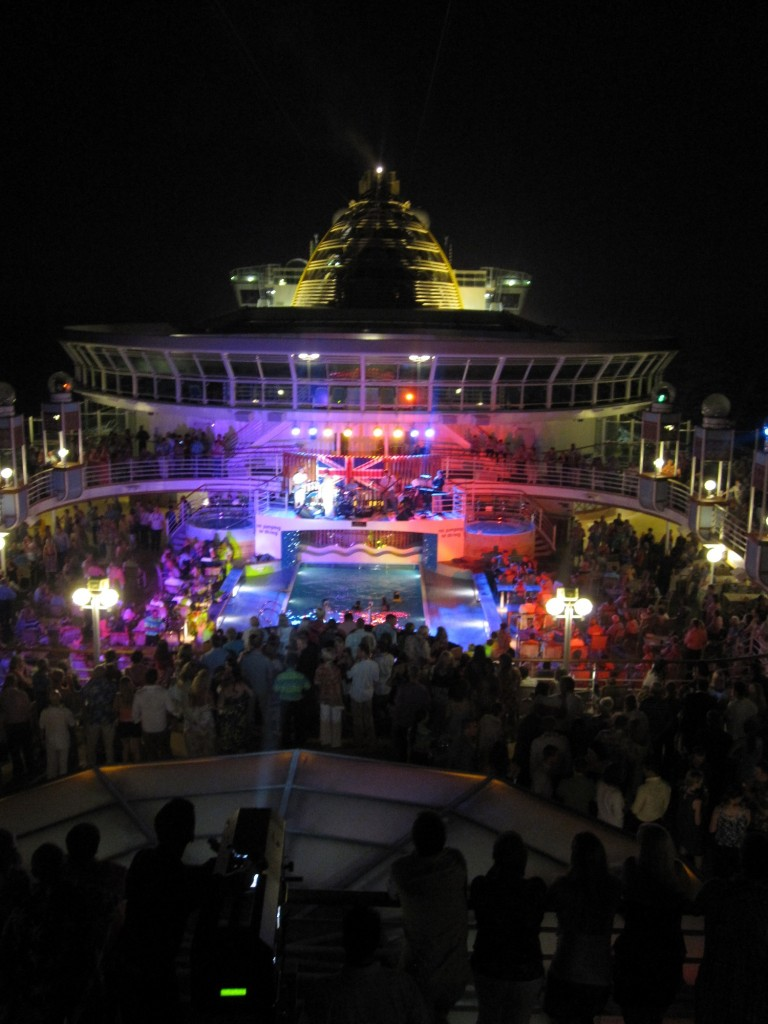 Cruise Ship Deck Party on Excursion in Caribbean