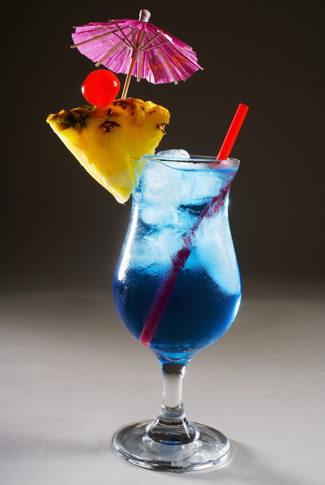 Blue Hawaii Cocktail Drink from Day Excursion in Hawaii