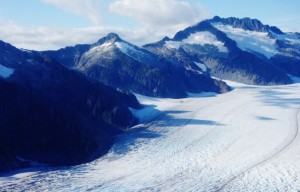 Mountains of Mendenhall Glacier in Juneau, Alaska
