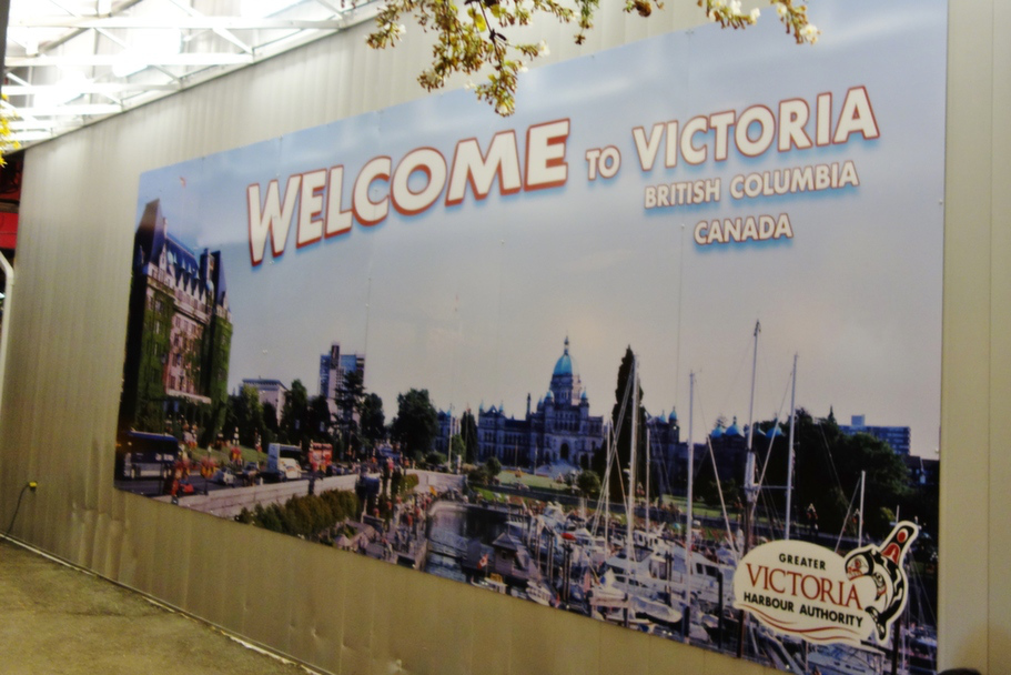 Welcome to Victoria, BC Sign - Shore Excursions Group